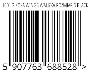 05907763688528 - 1601 2 KOŁA WINGS WALIZKA ROZMIAR S BLACK