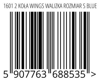05907763688535 - 1601 2 KOŁA WINGS WALIZKA ROZMIAR S BLUE