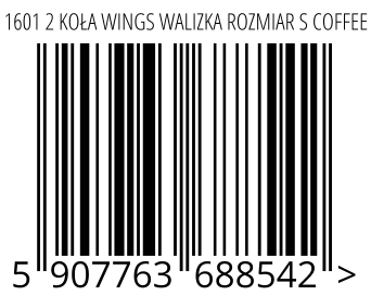 05907763688542 - 1601 2 KOŁA WINGS WALIZKA ROZMIAR S COFFEE