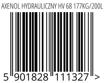 05901828111327 - AXENOL HYDRAULICZNY HV 68 177KG/200L
