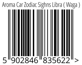 05902846835622 - Aroma Car Zodiac Sighns Libra ( Waga )