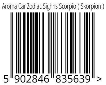 05902846835639 - Aroma Car Zodiac Sighns Scorpio ( Skorpion )