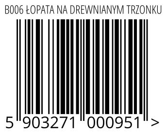 05903271000951 - B006 ŁOPATA NA DREWNIANYM TRZONKU
