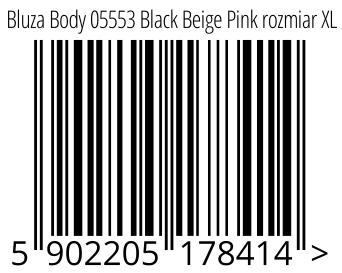05902205178414 - Bluza Body 05553 Black Beige Pink rozmiar XL