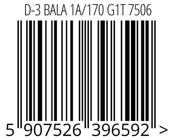 05907526396592 - D-3 BALA 1A/170 G1T 7506