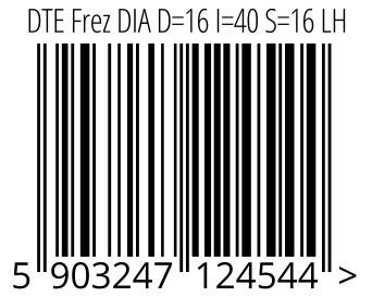 05903247124544 - DTE Frez DIA D=16 I=40 S=16 LH