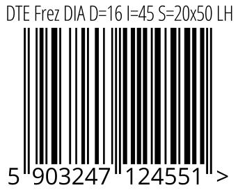 05903247124551 - DTE Frez DIA D=16 I=45 S=20x50 LH