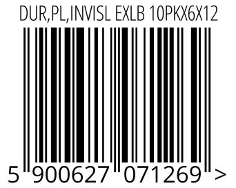 05900627071269 - DUR,PL,INVISL EXLB 10PKX6X12