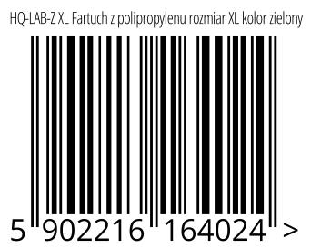 05902216164024 - HQ-LAB-Z XL Fartuch z polipropylenu rozmiar XL kolor zielony