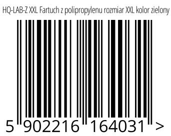 05902216164031 - HQ-LAB-Z XXL Fartuch z polipropylenu rozmiar XXL kolor zielony