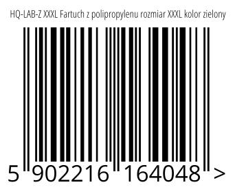 05902216164048 - HQ-LAB-Z XXXL Fartuch z polipropylenu rozmiar XXXL kolor zielony