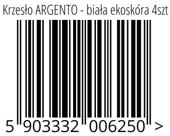 05903332006250 - Krzesło ARGENTO - biała ekoskóra 4szt