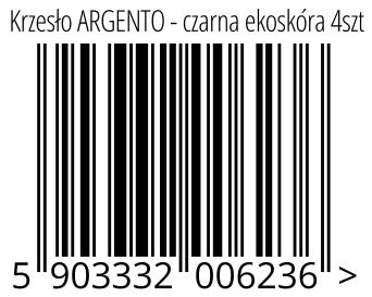 05903332006236 - Krzesło ARGENTO - czarna ekoskóra 4szt