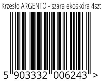 05903332006243 - Krzesło ARGENTO - szara ekoskóra 4szt