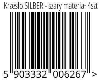 05903332006267 - Krzesło SILBER - szary materiał 4szt