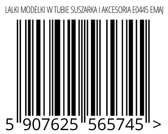 05907625565745 - LALKI MODELKI W TUBIE SUSZARKA I AKCESORIA E0445 EMAJ