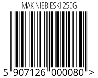05907126000080 - MAK NIEBIESKI 250G