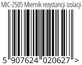 05907624020627 - MIC-2505 Miernik rezystancji izolacji