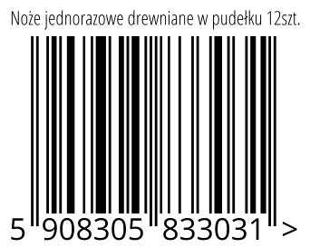 05908305833031 - Noże jednorazowe drewniane w pudełku 12szt.