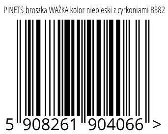05908261904066 - PINETS broszka WAŻKA kolor niebieski z cyrkoniami B382