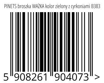 05908261904073 - PINETS broszka WAŻKA kolor zielony z cyrkoniami B383