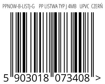 05903018073408 - PPNOW-B-LISTJ-G    PP LISTWA TYP J 4MB   UPVC  CZERŃ