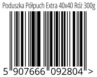 05907666092804 - Poduszka Półpuch Extra 40x40 Róż 300g