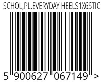 05900627067149 - SCHOL,PL,EVERYDAY HEELS1X6STIC