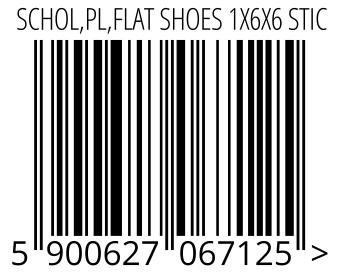 05900627067125 - SCHOL,PL,FLAT SHOES 1X6X6 STIC