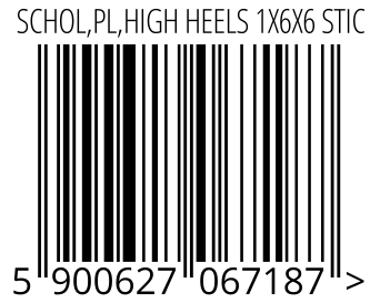 05900627067187 - SCHOL,PL,HIGH HEELS 1X6X6 STIC