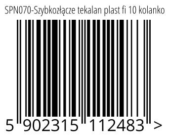 05902315112483 - SPN070-Szybkozłącze tekalan plast fi 10 kolanko