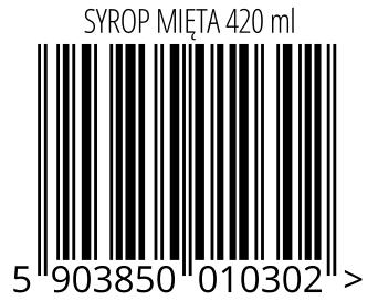 05903850010302 - SYROP MIĘTA 420 ml
