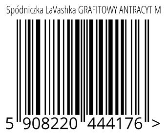 05908220444176 - Spódniczka LaVashka GRAFITOWY ANTRACYT M