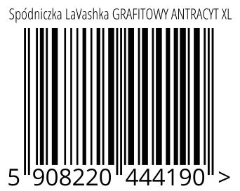 05908220444190 - Spódniczka LaVashka GRAFITOWY ANTRACYT XL