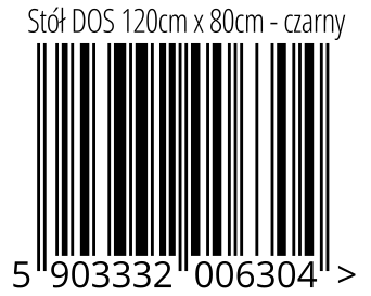 05903332006304 - Stół DOS 120cm x 80cm - czarny
