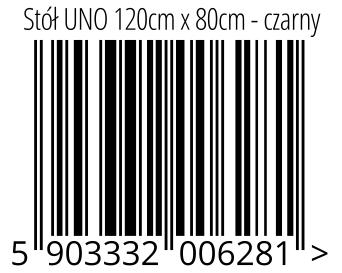 05903332006281 - Stół UNO 120cm x 80cm - czarny