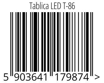 05903641179874 - Tablica LED T-86