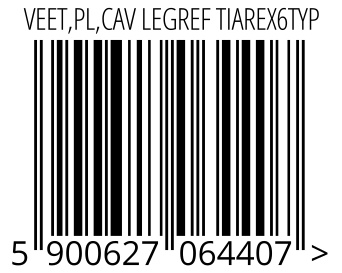 05900627064407 - VEET,PL,CAV LEGREF TIAREX6TYP