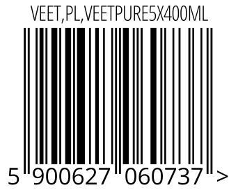 05900627060737 - VEET,PL,VEETPURE5X400ML