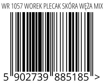 05902739885185 - WR 1057 WOREK PLECAK SKÓRA WĘŻA MIX
