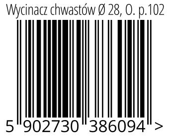 05902730386094 - Wycinacz chwastów Ø 28, O. p.102