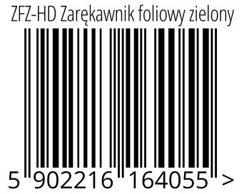 05902216164055 - ZFZ-HD Zarękawnik foliowy zielony